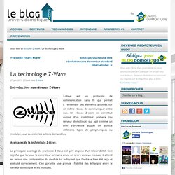 La technologie Z-Wave