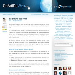 La théorie des floats « OnFaitDuWeb.com