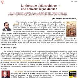 La thérapie philosophique