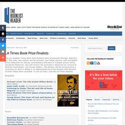 LA Times Book Prize Finalists