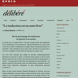 """""""La traduction est unautrelivre"""""""