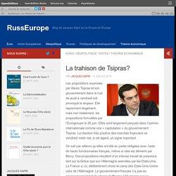La trahison de Tsipras?