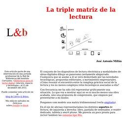 La triple matriz de la lectura