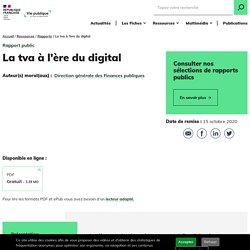 La tva à l'ère du digital