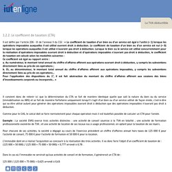 TVA déductible - CTA