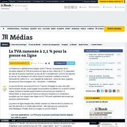 La TVA ramenée à 2,1 % pour la presse en ligne
