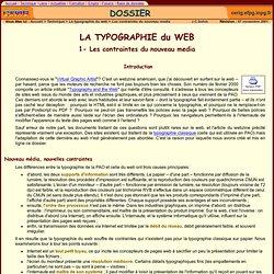 La typographie du web - la typographie et HTML