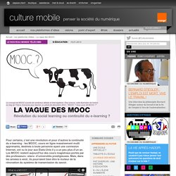 La vague des MOOC