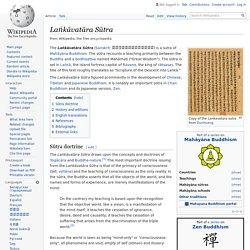Laṅkāvatāra Sūtra - Wikipedia