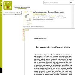 La Vendée de Jean-Clément Martin