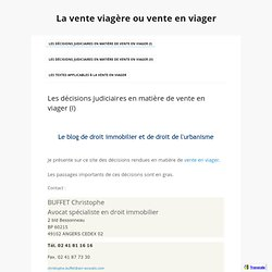 Droit notarial pearltrees - Definition vente en viager ...
