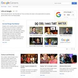 La vie chez Google - Google Carrières