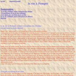 La vie à Pompéi