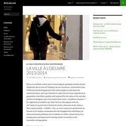 La ville à l'oeuvre 2013/2014
