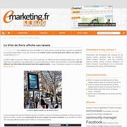 La Ville de Paris affiche ses tweets