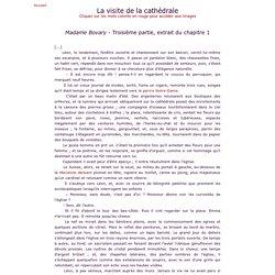 Flaubert - Madame Bovary - La visite de la cathédrale