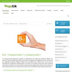 La vitamine B12 - Végétik