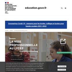 La voie professionnelle au lycée déroulée par le Ministère de l'Education Nationale et de la Jeunesse...