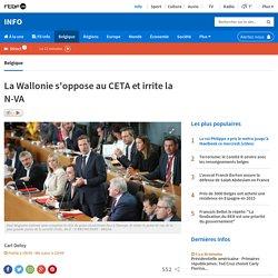 Bravo : la Wallonie s'oppose au CETA (traité Europe/Canada)