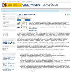 La web 2.0. Recurso educativo