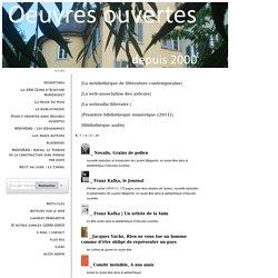Oeuvres Ouvertes : La webliothèque