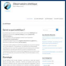 La zététique - Observatoire zététique