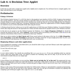 Lab 4: A Decision Tree Applet