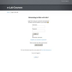 e-Lab Courses: Login to the site