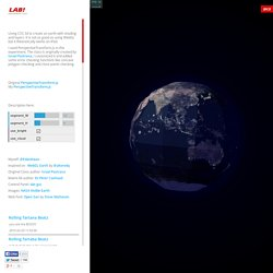 LAB! - CSS 3D Earth