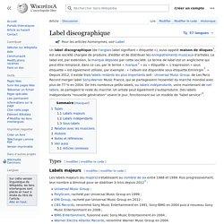Label discographique