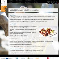 Label restaurant « Gusti di Corsica » - ODARC