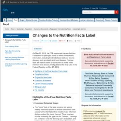 FDA Changes to the Nutrition Facts Label