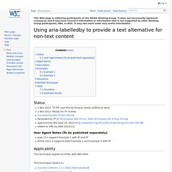 Using aria-labelledby to provide a text alternative for non-text content - WCAG WG