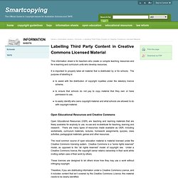 Labelling Third Party Content in Creative Commons Licensed Material