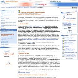 Charte de labellisation académique E3D - Pôle civique