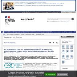 La labellisation E3D : un levier pour engager les écoles et les établissements vers un projet global de développement durable