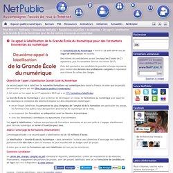 2e appel à labellisation de la Grande École du Numérique pour des formations innovantes au numérique