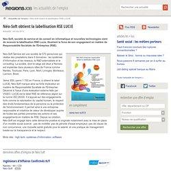 Néo-Soft obtient la labellisation RSE LUCIE - Actualité de l'emploi sur OuestJob