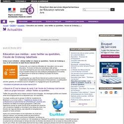 Education aux médias : avec twitter au quotidien, l'école de Crotenay labellisée - Direction des services départementaux de l'éducation nationale du Jura