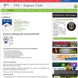 Labels / Espace Club / Sites FFE - Portail FFE - Espace club