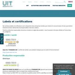 Labels et certifications - UIT