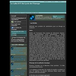 Le Labo SVT du Lycée de l'Europe - Test ELISA