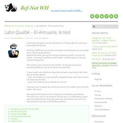 Labo Qualité : El-Annuaire, le test