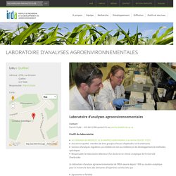 IRDA - Laboratoire d'analyses agroenvironnementales.