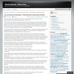 Lire un document numérique – Thierry Baccino (Laboratoire LUTIN)