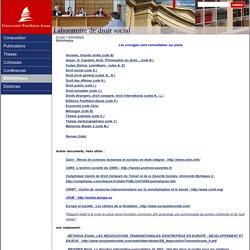 Laboratoire de Droit Social - Bibliothèque