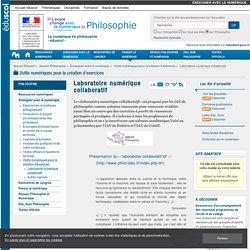 Laboratoire numérique collaboratif — Philosophie