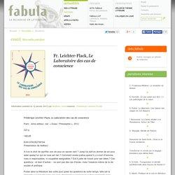 Fr. Leichter-Flack, Le Laboratoire des cas de conscience