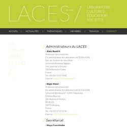 Contact - LACES EA 4140 - Laboratoire Cultures – Éducation – Sociétés
