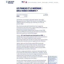 Les Français et le numérique : quels usages courants ? - Laboratoire d'Analyse et de Décryptage du Numérique